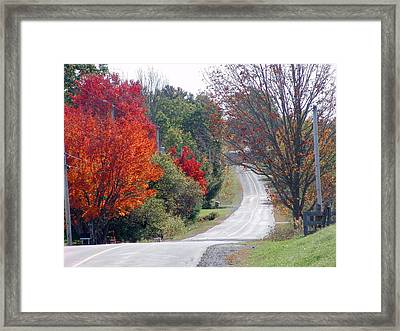 Autumn On A Country Road Framed Print