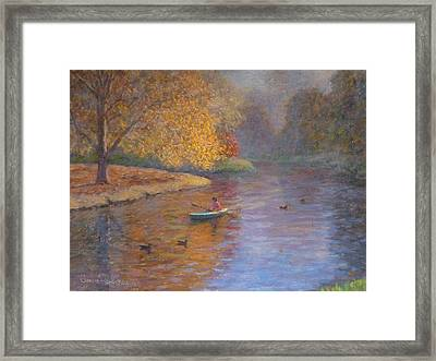 Autumn On Avon Nz. Framed Print by Terry Perham