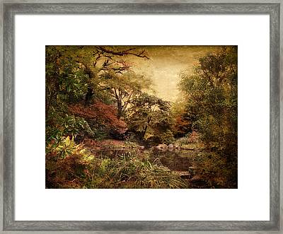 Framed Print featuring the photograph Autumn On Canvas by Jessica Jenney