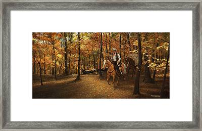 Autumn On Greensfelder Trail Framed Print by Don  Langeneckert