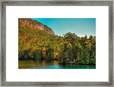 Autumn On Lake George Framed Print