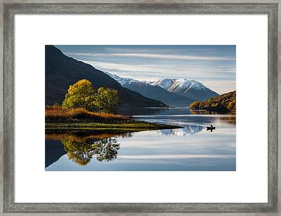Autumn On Loch Leven Framed Print by Dave Bowman