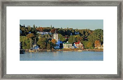 Autumn On Mackinac Island Framed Print