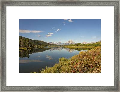 Autumn On Oxbow Bend - Mount Moran - Grand Teton National Park Wyoming Framed Print by Brian Harig