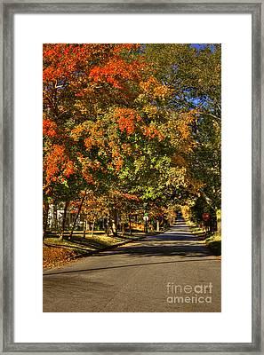 Autumn On South Street Greensboro Ga Framed Print by Reid Callaway