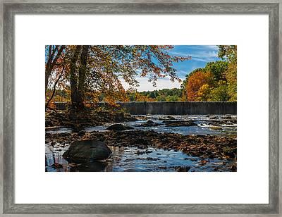 Autumn On The Assabet Framed Print by Mark Raymond
