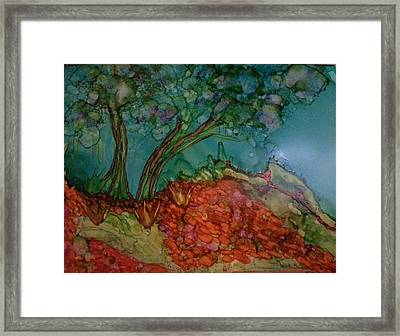 Autumn On The Edge Framed Print