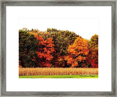 Autumn On The Farn Framed Print by EGiclee Digital Prints
