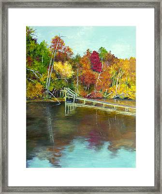 Framed Print featuring the painting Autumn On The James by Sandra Nardone