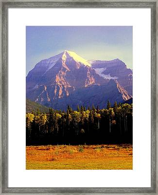 Autumn On The Mount Framed Print by Karen Wiles