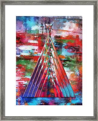 Autumn On The Plains Abstract Tee Pee Framed Print