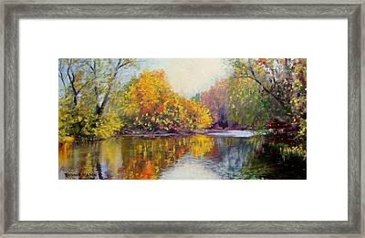 Autumn On The River Framed Print by Bonnie Mason