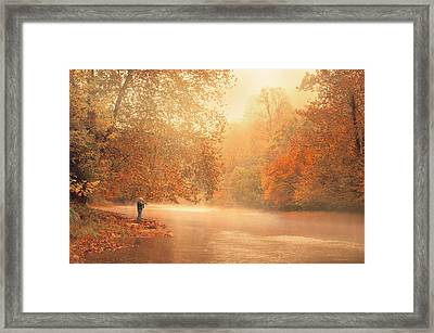 Autumn On The River Framed Print by Dorothy Walker