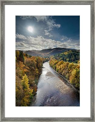 Autumn On The River Garry Framed Print by Dave Bowman