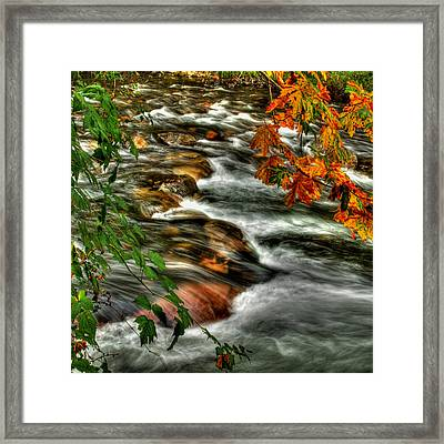 Autumn On The River Framed Print by Randy Hall