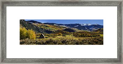 Autumn On The Road To Capitol Peak Framed Print
