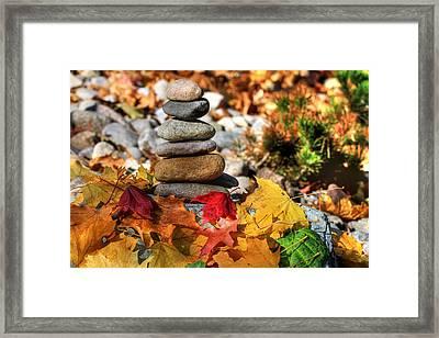 Autumn On The Rocks Framed Print