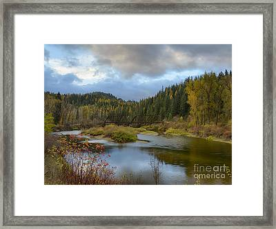 Autumn On The St. Joe Framed Print by Idaho Scenic Images Linda Lantzy