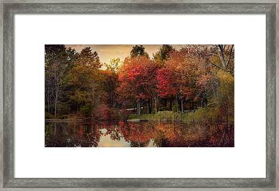 Framed Print featuring the photograph Autumn On The River by Robin-Lee Vieira