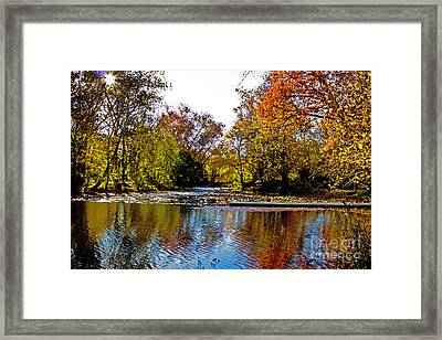 Autumn On The Water Framed Print