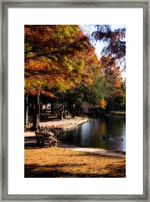 Autumn On Theta Framed Print by Lana Trussell
