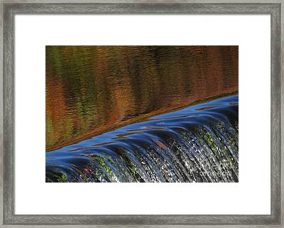 Autumn Over The Falls Framed Print