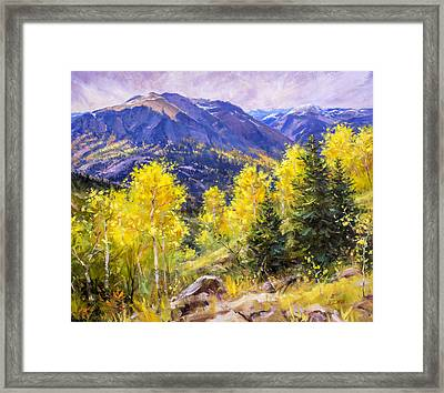 Autumn Overlook Framed Print by Bill Inman