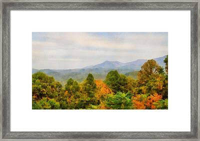 Autumn Palette In The Smokies Framed Print
