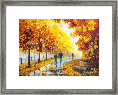 Autumn Parkway Framed Print
