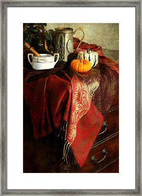 Autumn Pashmina Framed Print by Diana Angstadt