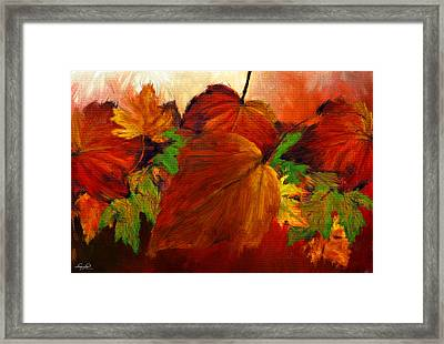 Autumn Passion Framed Print by Lourry Legarde