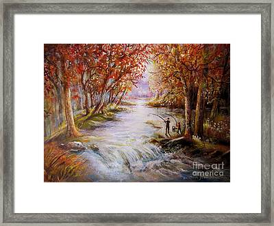 Autumn Peace Framed Print by Patricia Schneider Mitchell