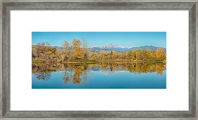 Autumn Peaks Golden Ponds Reflections Panorama Framed Print by James BO  Insogna