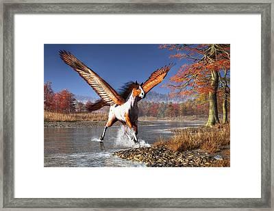 Autumn Pegasus Framed Print by Daniel Eskridge