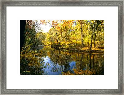 Autumn Pennypack Creek Montgomery County Pennsylania Framed Print