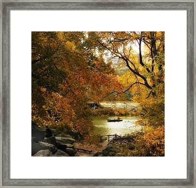 Autumn Perspective Framed Print by Jessica Jenney
