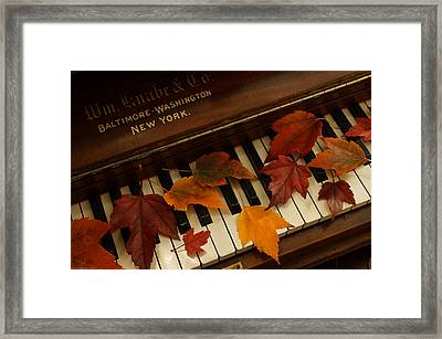 Autumn Piano 14 Framed Print