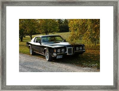 Autumn Pleasures 1970 Pontiac Grand Prix Framed Print by Inspired Nature Photography Fine Art Photography