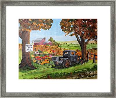 Autumn Pleasures Framed Print by Jack G  Brauer