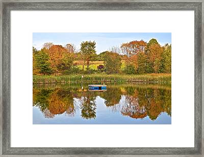 Autumn Pond Framed Print by Frozen in Time Fine Art Photography