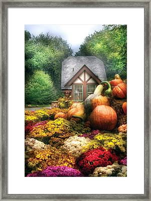 Autumn - Pumpkin - This Years Harvest Was Awesome  Framed Print