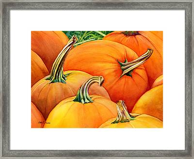 Autumn Pumpkins Framed Print by Hailey E Herrera