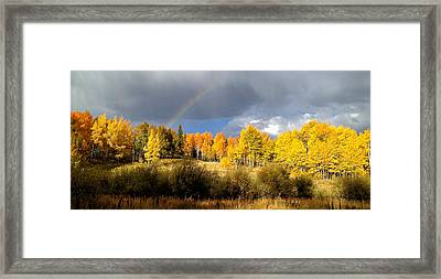 Autumn Rainbow Framed Print by Bob Berwyn