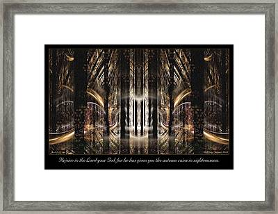 Autumn Rains Framed Print