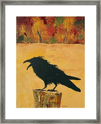 Autumn Raven Framed Print