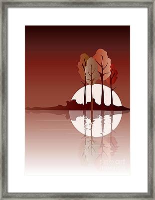 Autumn Reflected Framed Print