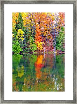 Autumn Reflecting In Still Waters Framed Print