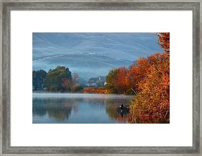 Framed Print featuring the photograph Autumn Reflection by Lynn Hopwood