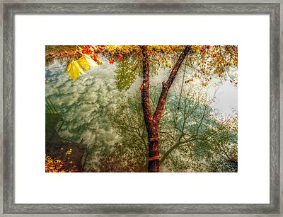 Framed Print featuring the photograph Autumn Reflection  by Peggy Franz
