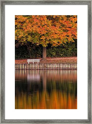 Autumn Reflections Framed Print by Andrew Soundarajan